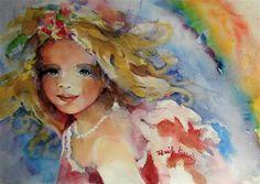 """Angel of the Summer Rainbow"" - Original Fine Art for Sale - © by Reveille Kennedy"