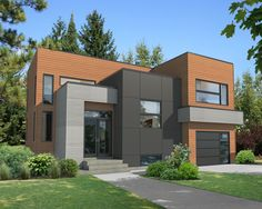 Exciting Modern House Plan - 80787PM | Contemporary, Modern, Canadian, Metric, Narrow Lot, 1st Floor Master Suite, 2nd Floor Master Suite, CAD Available, Den-Office-Library-Study, PDF | Architectural Designs