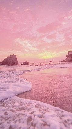 Wallpaper Sky, Wallpaper Pastel, Strand Wallpaper, Pink Wallpaper Backgrounds, Summer Wallpaper, Aesthetic Pastel Wallpaper, Aesthetic Backgrounds, Aesthetic Wallpapers, Painting Wallpaper