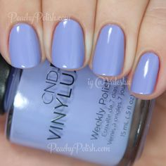CND VINYLUX Wisteria Haze | Summer 2015 Garden Muse Collection | Peachy Polish
