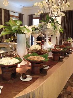 Taco Bar Catering, Catering Buffet, Catering Display, Catering Food, Wedding Buffet Displays, Wedding Buffet Food, Party Buffet, Food Table Decorations, Dinner Party Decorations