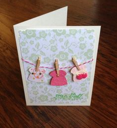 Paper handmade greeting card