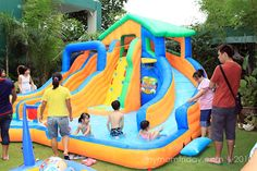 Awesome Inflatable Water Slide #Summer #Fun