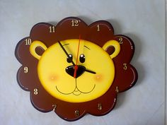 Pintura Country, Clocks, Projects To Try, Paper Crafts, Classroom, Wall, House, Home Decor, Feltro