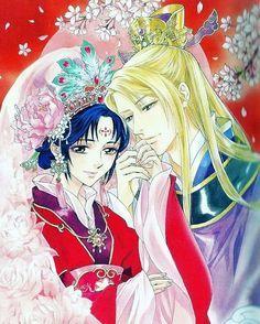Saiunkoku*Monogatari* — This is so beautiful Manhwa Manga, Manga Anime, Anime Art, Saiunkoku Monogatari, Natsume Yuujinchou, Manga List, Cartoon Tv Shows, Manga Illustration, Anime Couples