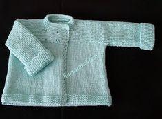 Hamaratablam: Kolay bebek ceketi açıklaması & Baby jacket description Baby Cardigan, Knit Vest, Crochet Baby, Knit Crochet, Pullover, Baby Knitting Patterns, Baby Booties, Sweaters, Diy Gifts