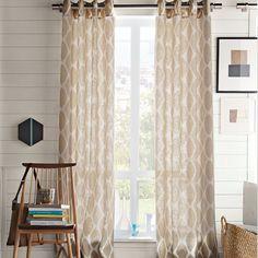 Ikat Ogee Linen Curtain ▇  #Home #Design #Decor view More Ideas http://irvinehomeblog.com/HomeDecor/  - Christina Khandan - Irvine, California ༺ℭƘ ༻