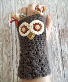 Crochet Pattern: Fingerless Gloves with Ties - Yahoo! Voices