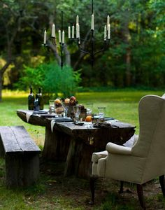 rustic elegance in the outdoors