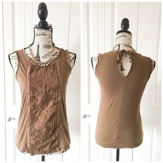 """J.Crew Boho Sleeveless Top This top has a cool boho design in the front with a peep hole back. Awesome top for adding interest to an outfit(actual color may vary from the photo}  *chest/shoulders:17"""" *waist:15.5"""" *length:23""""*material/care:100% cotton machine wash  *fit:could work for Sml too *condition:good no rips/stains   20% off bundles of 3/more items No Trades  NO HOLDS No transactions outside of Poshmark  No lowball offers J. Crew Tops"""