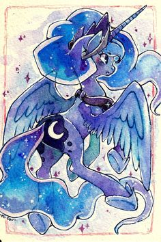 Luna Postcard by Mi-eau.deviantart.com on @deviantART