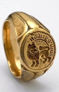 Signet-ring, late C. -- «This ring was found on the site of the battlefield of Towton