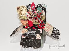 Pop Up Card with the gorgeous papers Mirabelle da Trimcraft.
