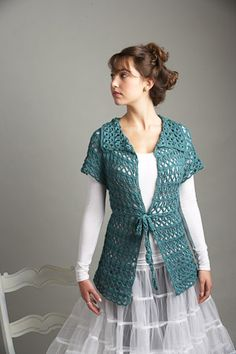 Chamomile Cardigan by Doris Chan  I love the drape on this Broomstick lace cardigan!