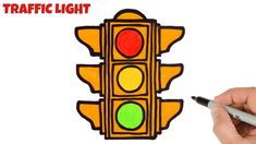 How to Draw Traffic Light Step by Step Easy Drawings For Beginners, Channel Art, Traffic Light, Simple Art, Learn To Draw, Art Tutorials, Make It Yourself, Crafts, Learn How To Draw
