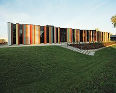 Oslo International School // Bekkestua, Norway // Doesn't even look like a building when looked at straight on!