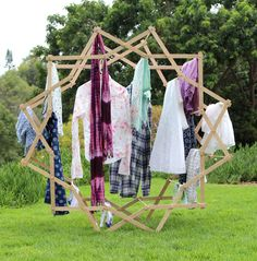 $18 Star Shaped Clothes Drying Rack | Do It Yourself Home Projects from Ana White