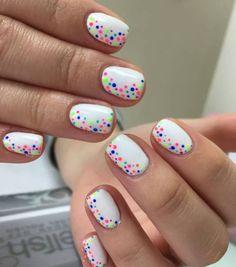 Cute Nail Art Designs for Short Nails 2019 - Nail Design - Nageldesign Cute Nail Art Designs, Short Nail Designs, Gel Nail Designs, Nail Designs For Kids, Fingernail Designs, Simple Nail Designs, Summer Shellac Designs, Nail Design For Short Nails, Summer Shellac Nails