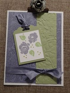 A simple card made with the Stampin' Up Painted Petals and other Stampin' Up supplies.  Visit www.stamponwithheart.blogspot.com.