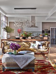 Chelsea Penthouse Open Plan LivingDining Room Kati Curtis Design