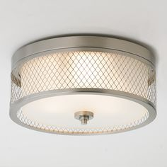 Lattice Screen Double Drum Ceiling Light brushed_nickel