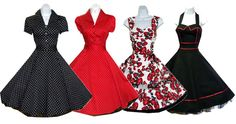 VINTAGE DRESSES....polka dots enough said