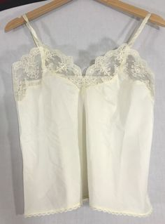 a7ce49b58b8 Vintage BARBIZON LINGERIE CAMISOLE Cream LACE Medium  BARBIZON