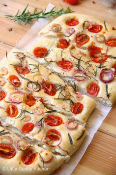 Little Sunny Kitchen: Cherry Tomato and Rosemary Focaccia