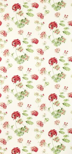 Geranium Pale Cranberry from the Laura Ashley wallpaper collection.