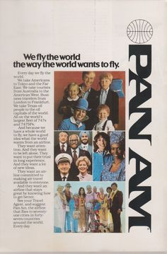 Vintage Pan Am Airlines Magazine Advertisement RARE