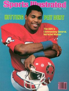 I've always found the USFL interesting, maybe the whole doomed enterprise part of it. But they certainly had some intriguing players for a while - Herschel Walker foremost among them!