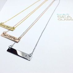 16k Gold Plated Personalized Name Bar Necklace