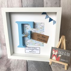Personalised Handmade Initial Letter Frame, New Baby Frame, Bunting Frame, New Baby Gift, Christenin Tech Gifts For Men, Cool Gifts For Kids, Gifts For Girls, Best Baby Gifts, Baby Girl Gifts, Unicorn Birthday Parties, Birthday Cards, 40th Birthday, Christening Present