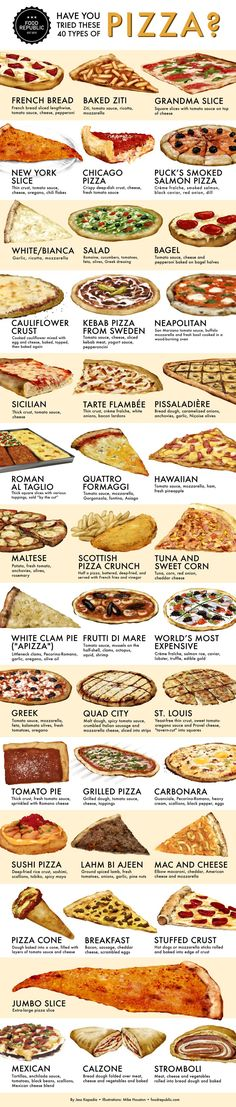 There's no wrong way to eat these 40 styles of pizzas.