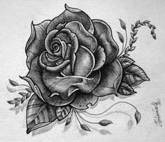 rose tattoo design rose tattoodesign gabchik тънкописес и ...