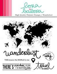 "Lorabailora | ""Travel The World"" Stamp"
