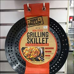 If you have heavy grilling duties you need a heavy-duty Grilling Skillet, which in this case is offered by Grilling Skillet Slatwall Display Via Hook Twins. Grill Skillet, Slat Wall, Trading Post, Baileys, Cookware, Barbecue, Hooks, Grilling, Twins