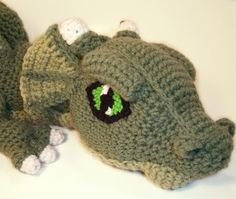 Cosmo the Crochet Dragon...i'm never going to make this but it is SO COOL!