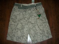 NWT PLUGG JEANS CO CAMO MEN'S CARGO SHORTS, SZ 34. EXCELLENT CONDITION! #Plugg #Cargo