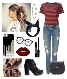 """""""Red and Black"""" by savvy-style13 ❤ liked on Polyvore featuring R13, Frame, Boohoo, Lime Crime, Lord & Berry, H&M, Bling Jewelry and Kate Spade"""