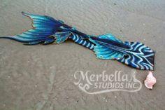 "Merbella Studios Silicone Performance Mermaid Tail Outfit ""Sea Dragon"" Design | eBay"