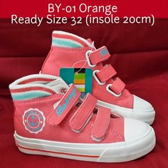READY STOCK KIDS CANVAS SHOES KODE : BY-01 Orange Size 32 PRICE : Rp.200.000,- AVAILABLE SIZE : - Size 32 (insole 20cm)  FOR ORDER : SMS/Whatsapp 087777111986 PIN BB 766a6420 FB : Mayorishop  #pusat #sepatu #anak #kids #canvas #shoes #import #orange #sporty #ready #stock #mayorishop #online #bogor
