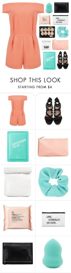 """""""I Found My Happiness Where The Sun Shines - Yoins 28"""" by paradiselemonade ❤ liked on Polyvore featuring Saturday Skin, H&M, Topshop, The Body Shop and Forever 21"""