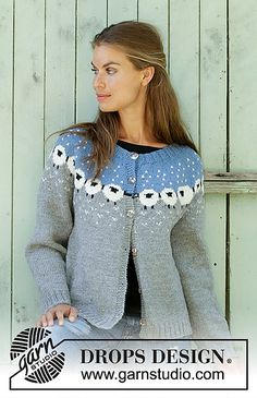 Ravelry: 194-1 Sheep Happens! Cardigan pattern by DROPS design