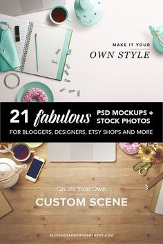 21 Fantastic Mockups and Stock Layouts - Eliminate the need for expensive photo equipment or a photographer. Style your own photos right from your computer!