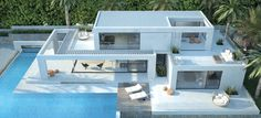Seasites House IV – seasites – timeless architecture with mediterranean soul. Dream House Exterior, Dream House Plans, Modern House Plans, Two Story House Design, House Front Design, Home Building Design, Building A House, Morden House, House Plans South Africa