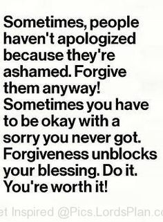 Forgiveness Unblocks your Blessings. Famous Bible Verses, Encouraging Bible Verses, Inspirational Quotes With Images, Uplifting Quotes, Motivational Sayings, Healing Quotes, The Words, Bible Quotes For Teens, Quotes To Live By