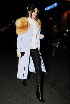 Kendall Jenner rocking Celine boots