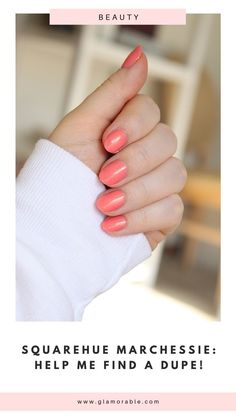 Coral nail polish with golden sparkle looks so nice on short nails! #nails #nailpolish #manicure #shortnails #naturalnails #almondnails #coral Coral Nail Polish, Old Nail Polish, Coral Nails, My Nails, Monthly Subscription, Subscription Boxes, Beauty Tips Blog, Negative Space Nails, Nail Polish Collection