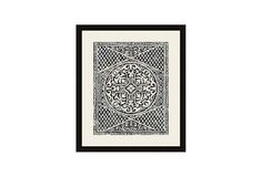 One Kings Lane - Most Wanted - Woodcut in Black I